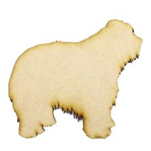 Old English Sheepdog Craft Blank, Dog Shape Laser Cut from 3mm MDF, Card Topper